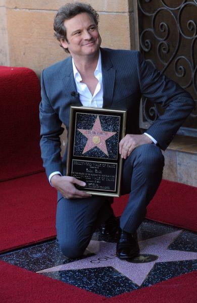Colin Firth enthüllt seinen Stern am 'Walk of Fame'