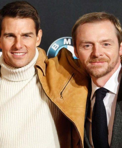 Tom Cruise mit Simon Pegg