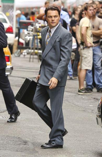 DiCaprio am Set von 'The Wolf Of Wall Street'