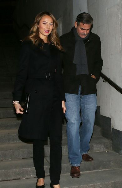George Clooney mit Stacy Keibler