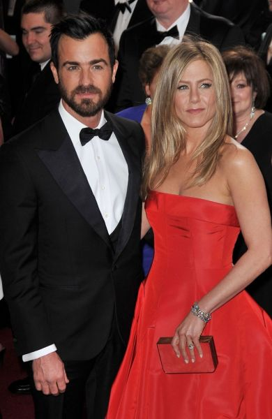 Jennifer Aniston mit ihrem Verlobten Justin Theroux