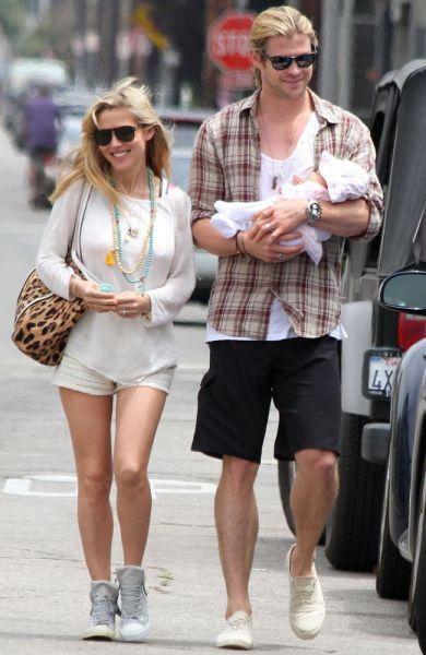 Chris Hemsworth mit Familie