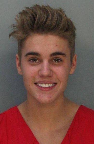 Justin Bieber, Polizeifoto vom 23.01.2013