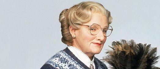 Robin Williams als 'Mrs Doubtfire'