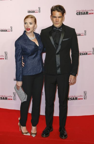 Scarlett Johansson mit Romain Dauriac