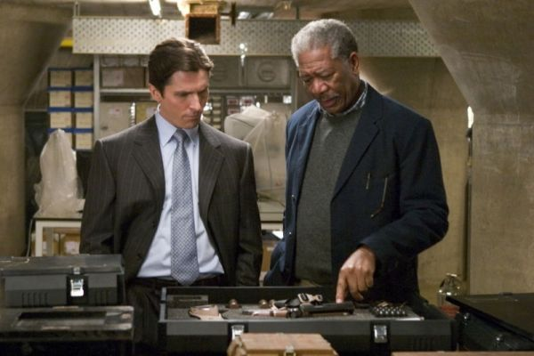 Batman Begins mit Christian Bale und Morgan Freeman