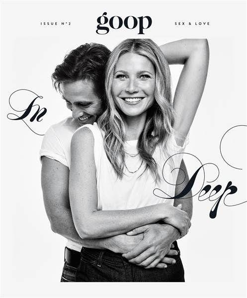 Brad Falchuk und Gwyneth Paltrow auf dem Cover von Goop