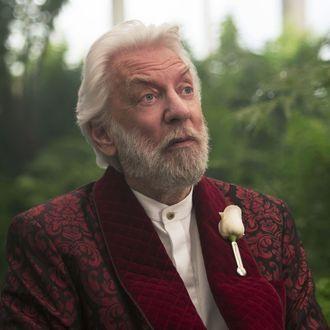 Donald Sutherland als President Snow