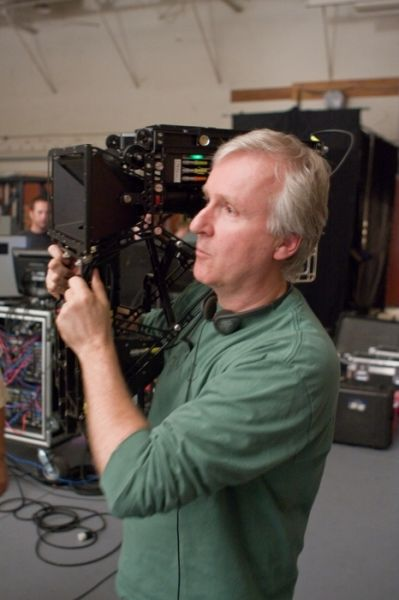 Regisseur James Cameron, am Set seines Films 'Avatar...dora'